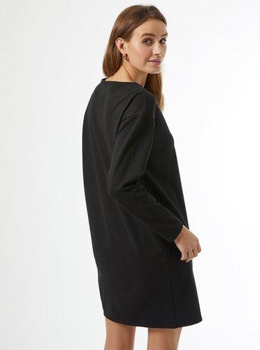Černé mikinové šaty Dorothy Perkins
