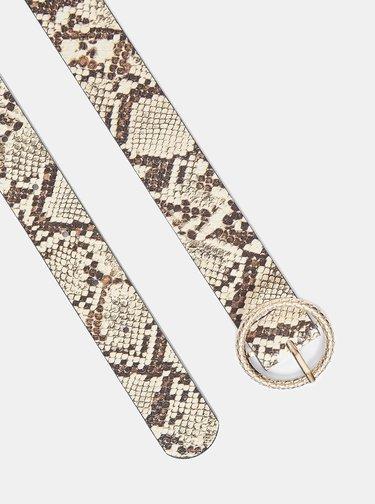 Krémový pásek s hadím vzorem Dorothy Perkins