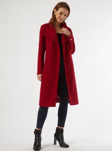 Vínový zimní kabát Dorothy Perkins