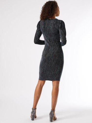 Tmavě modré pouzdrové třpytivé šaty Dorothy Perkins Tall