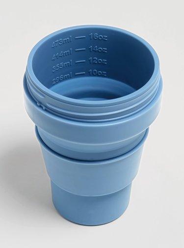 Modrý cestovný skladací kelímok Stojo 470 ml