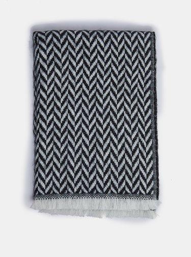 Černo-šedá vzorovaná šála Dorothy Perkins