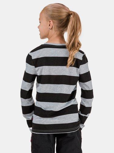 Čierno-šedé dievčenské pruhované tričko SAM 73
