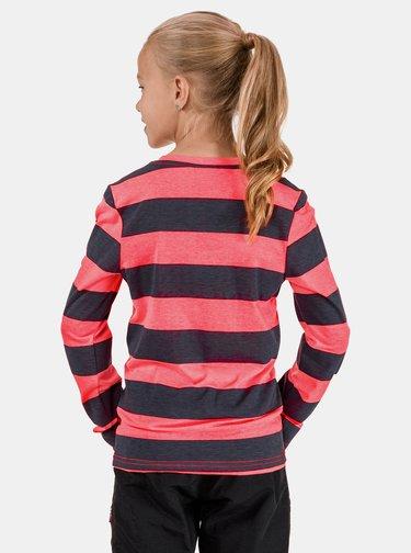 Ružovo-šedé dievčenské pruhované tričko SAM 73