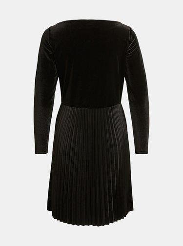 Čierne sametové šaty VILA