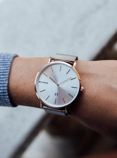 Dámské hodinky s nerezovým páskem ve stříbrné barvě Millner Mayfair