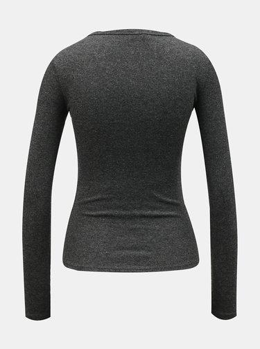 Tričká s dlhým rukávom pre ženy TALLY WEiJL - sivá