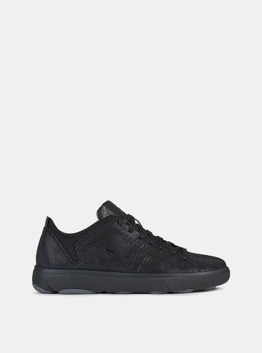 Černé pánské kožené tenisky Geox