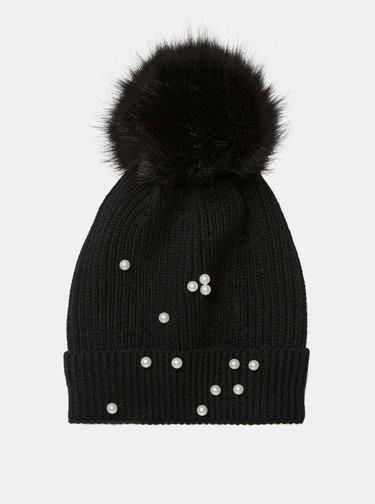 Čierna čiapka s ozdobnými detailmi VERO MODA