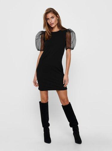 Černé šaty s balonovými rukávy Jacqueline de Yong