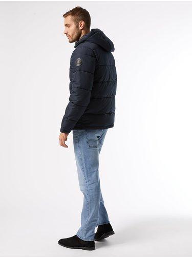 Modrá zimní prošívaná bunda Burton Menswear London