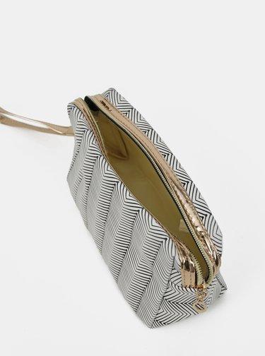 Šedá dámská vzorovaná kosmetická taška Clayre & Eef