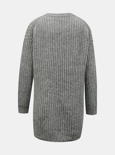 Svetlošedý basic sveter ONLY New Chunky
