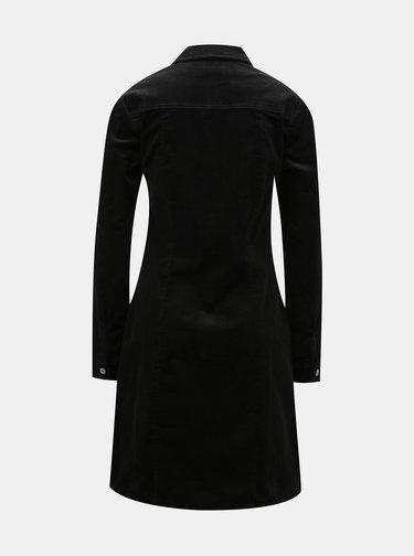 Černé manšestrové košilové šaty Dorothy Perkins Tall