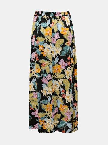 Černá květovaná maxi sukně Jacqueline de Yong Tianna