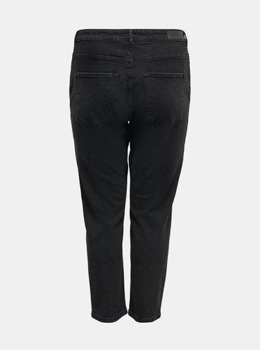 Černé mom fit džíny ONLY CARMAKOMA Edena