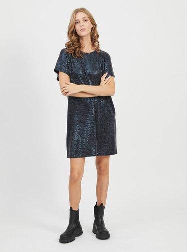 Tmavě modré flitrované šaty .OBJECT