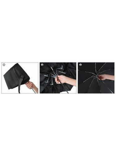 Scout DARK LILAC dívčí skládací deštník s reflexním proužkem - Fialová