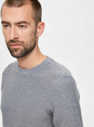 Šedý basic sveter Selected Homme
