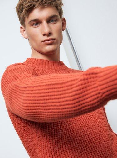 Cihlový svetr Selected Homme