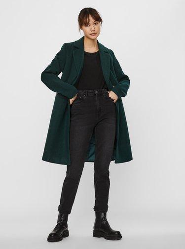Tmavě zelený zimní kabát VERO MODA