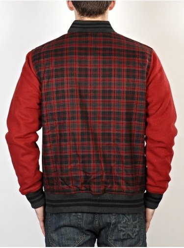 New Era Plaid Vars Scr Chk/Maroon podzimní bunda pro muže - červená