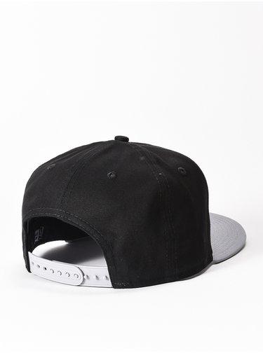 New Era 950 Cotton Block NEY BLACK/GREY/WHT kšiltovka s rovným kšiltem - černá