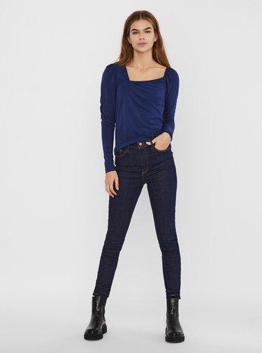 Modré tričko s asymetrickým výstrihom VERO MODA