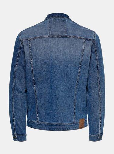 Modrá oversize džínová bunda ONLY & SONS