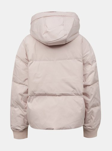 Svetloružová dámska zimná bunda Converse