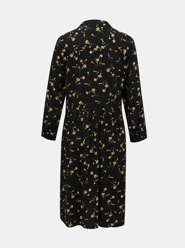 Čierne kvetované košeľové šaty Tom Joule