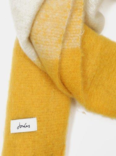 Žlutá dámská kostkovaná šála Tom Joule