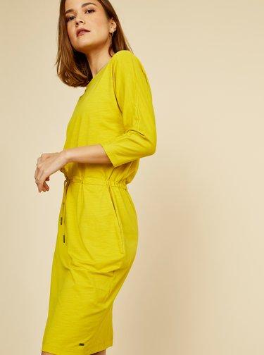 Žlté basic šaty so zaväzovaním ZOOT Baseline Darina