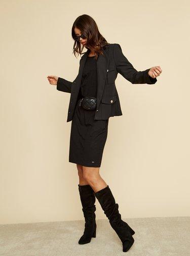 Černé basic šaty se zavazováním ZOOT Baseline Darina