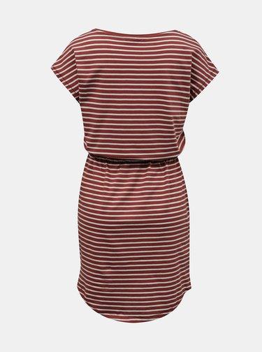 Cihlové pruhované šaty ONLY