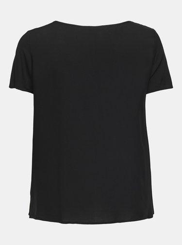 Černé volné basic tričko ONLY CARMAKOMA Firstly