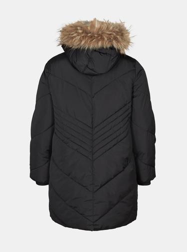 Čierna dlhá zimná bunda Zizzi