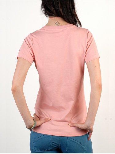 WESC Icon rose blush dámské triko s krátkým rukávem - růžová