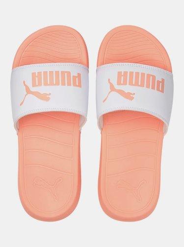 Oranžové dámske šľapky Puma