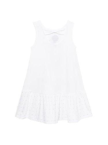 Desigual bílé dívčí šaty Vest Analia