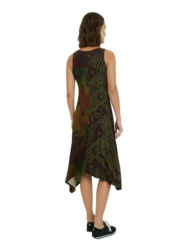 Desigual khaki šaty Vest Nise