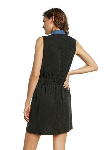 Desigual čierne šaty Vest Sidney