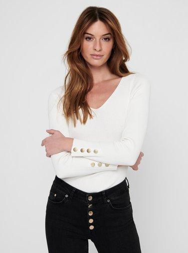 Biely sveter Jacqueline de Yong Plum