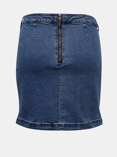 Modrá pouzdrová džínová sukně Noisy May Inci