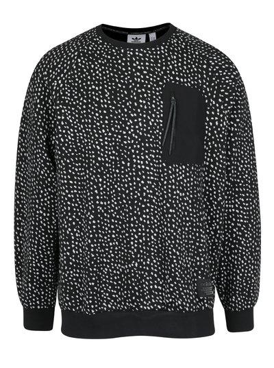 Černá pánská vzorovaná mikina s kapsou adidas Originals Crew 2e226f8856