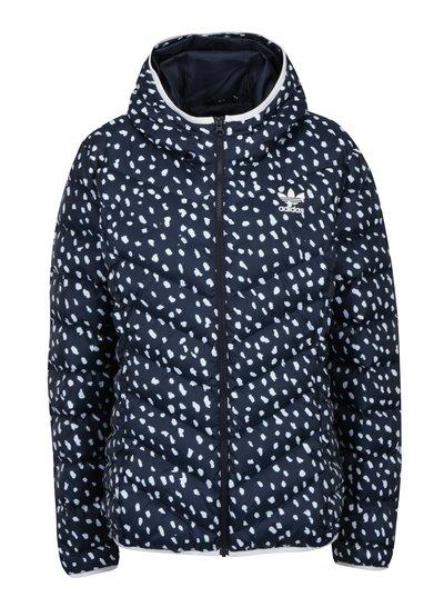 Bílo-modrá vzorovaná bunda adidas Originals Slim b7e2a6d824