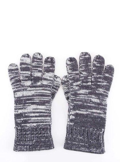 Tmavomodré žíhané rukavice HYMN Dustin