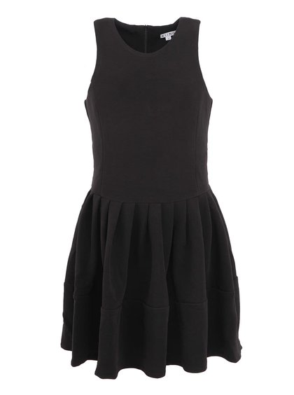 Čierne minimalistické šaty bez rukávov Kling Odette