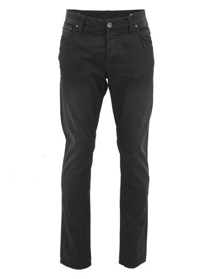 Jeanși bărbătești negri, drepți, model Mar de la ONLY & SONS