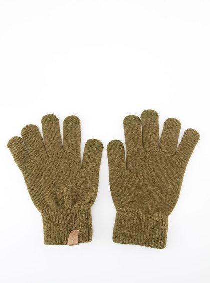 Mănuși bărbătești Selected Homme Leth pentru iarnă - kaki